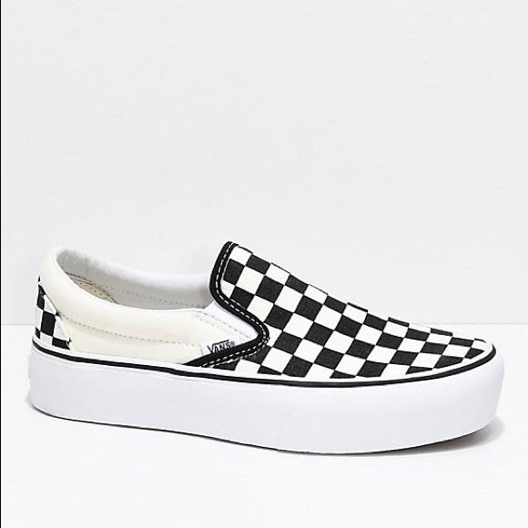 Vans Shoes | Platform Checkered Vans